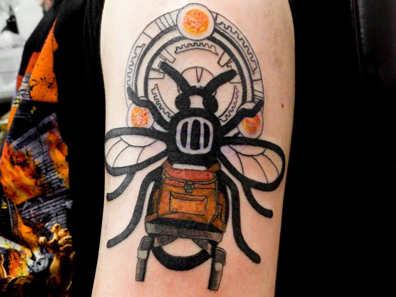 Manchester worker bee tattoo Lara Croft Tomb Raider Scion