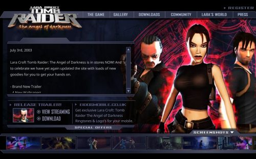 [PRESERVED] Tomb Raider: The Angel of Darkness Website